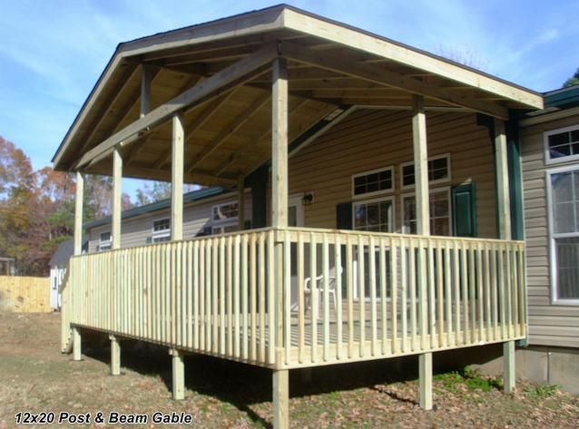 Porch Designs For Mobile Homes | Design, Decks And Front Deck
