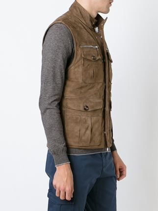 Eleventy patch pocket gilet