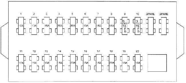 schematic diagram of fuses and relays hyundai h100 / porter (ah