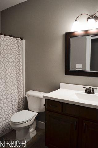Home Tour Part 6 Guest Bath Dark Wood Bathroom Bathroom Vanity