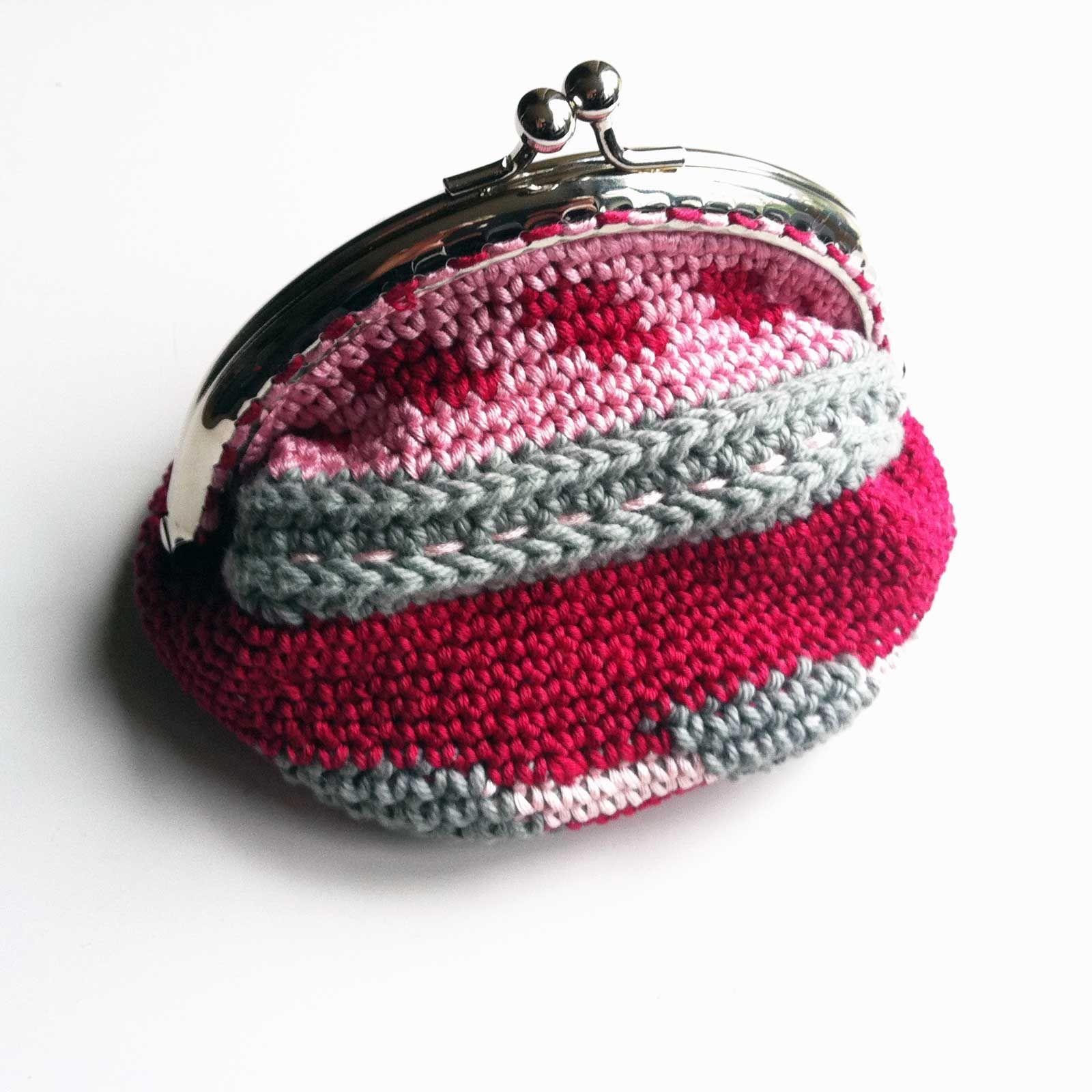 crochet coin purse #bewool | Häkeln | Pinterest | Geldbörse, Häkeln ...