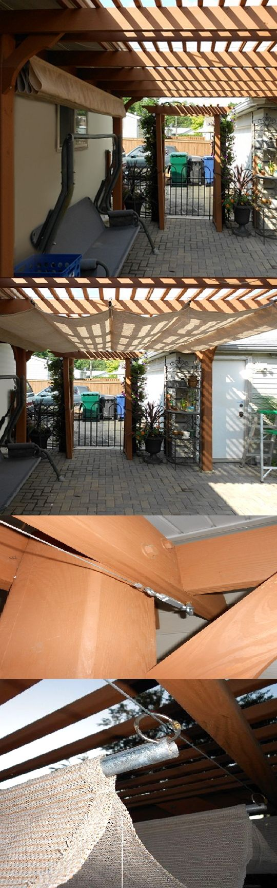 Superbe Make Your Own Retractable Shade Awning By Creating Pockets For Steel Or  Wood Bars. A Steel Ring At The End Of The Bars Allow The Awning To Slide  Along Steel ...