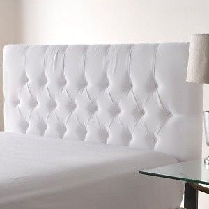 Nate Berkus White Tufted Headboard