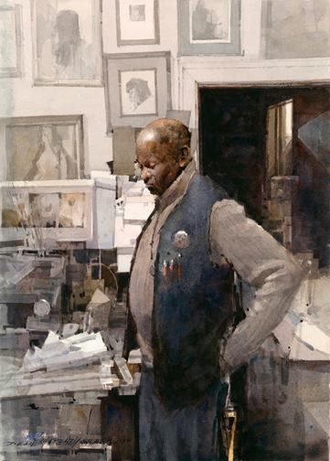 Florida Watercolor Society Mill Town Strike By Edwin