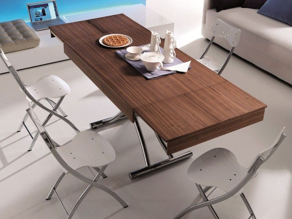 Adjustable height coffee table to dining adjustable