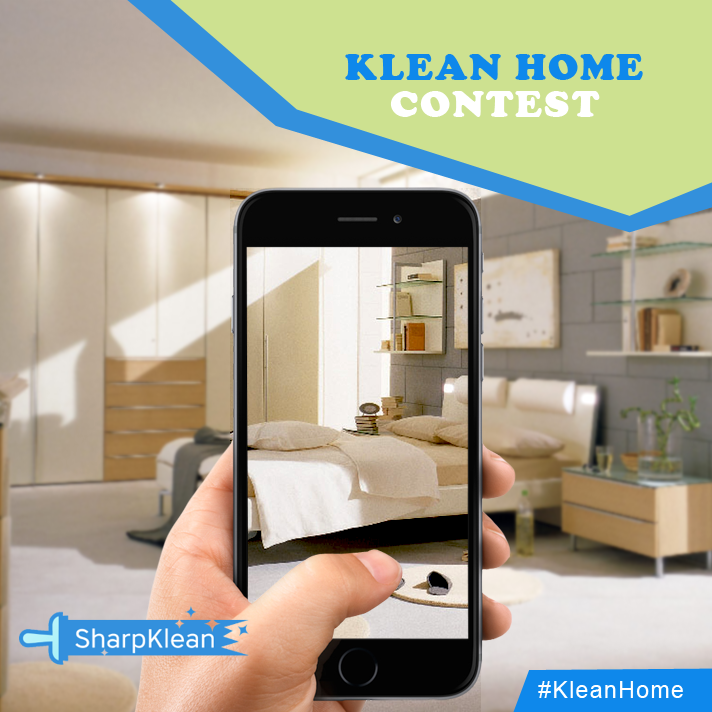 Comment below with the picture of your clean home and win a chance to get your sweet home featured in our SharpKlean social media pages.