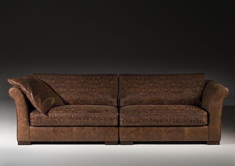 Pucini Ledersofa von het Anker in Afrika leder oder Congo leder - wohnzimmer sofa braun