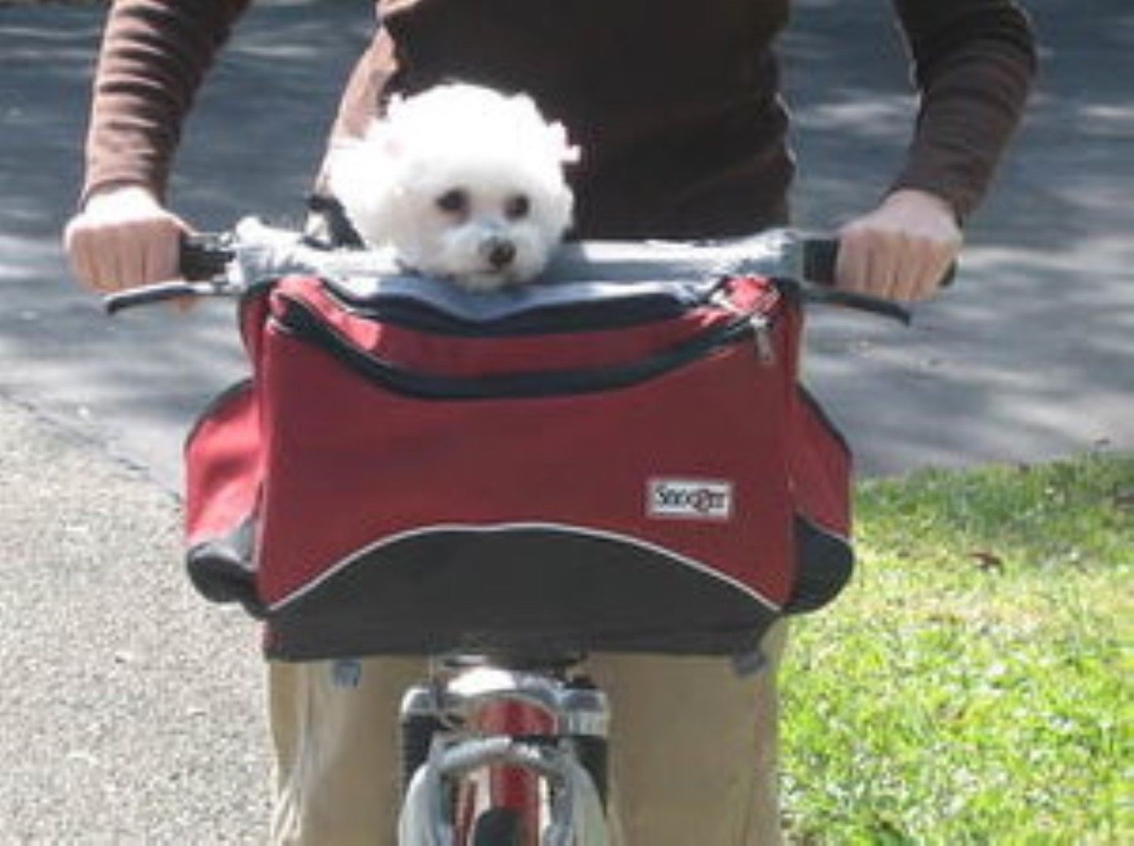 Bike baskets and trailers bike basket doubles as dog carrier