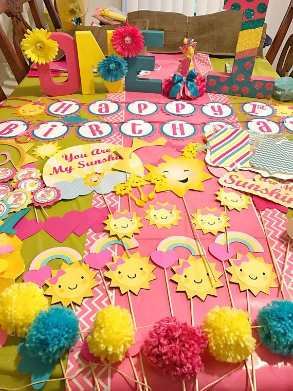 first birthday center piece You are my sunshine birthday party center piece sunshine party supplies sunshine party decoration