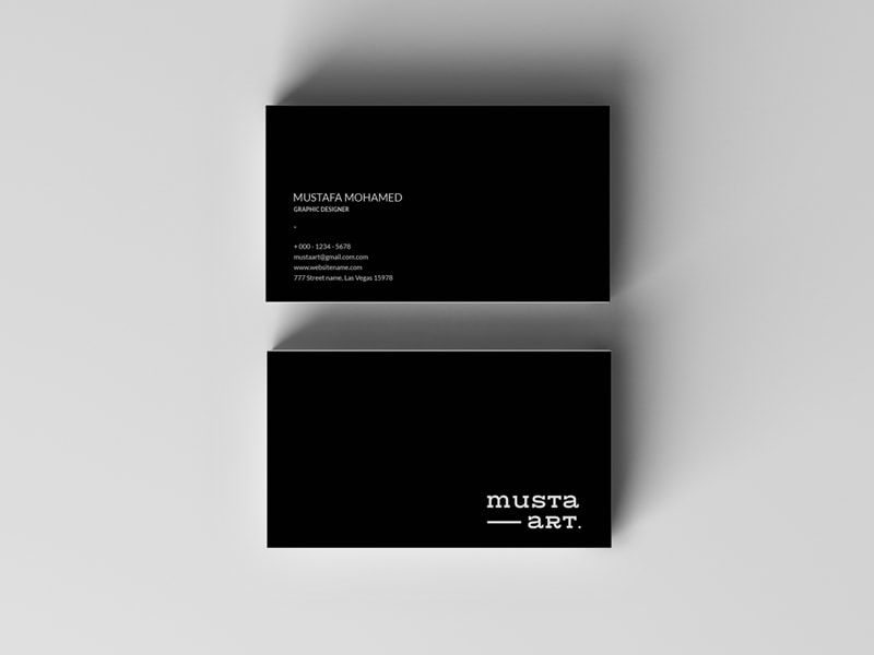 Simple Black Business Card Free Psd Template Pixelsdesign Net Business Card Mock Up Cleaning Business Cards Free Business Cards