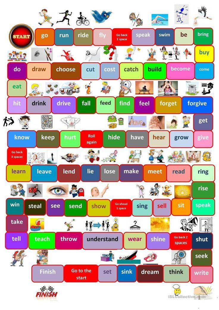 Printable Worksheets free irregular verb worksheets : Board game irregular verbs   grammar activities   Pinterest ...