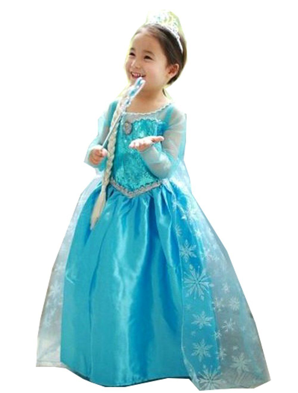 Disney Frozen Princess Elsa Costume Halloween Party Kids Children ...