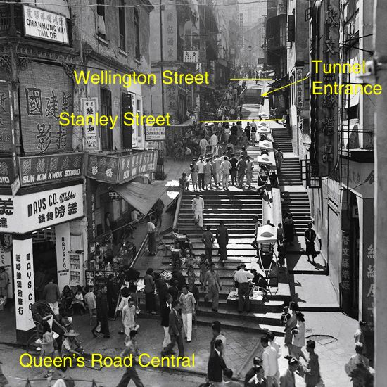 Pottinger Street Now And Then With Images Hong Kong Island
