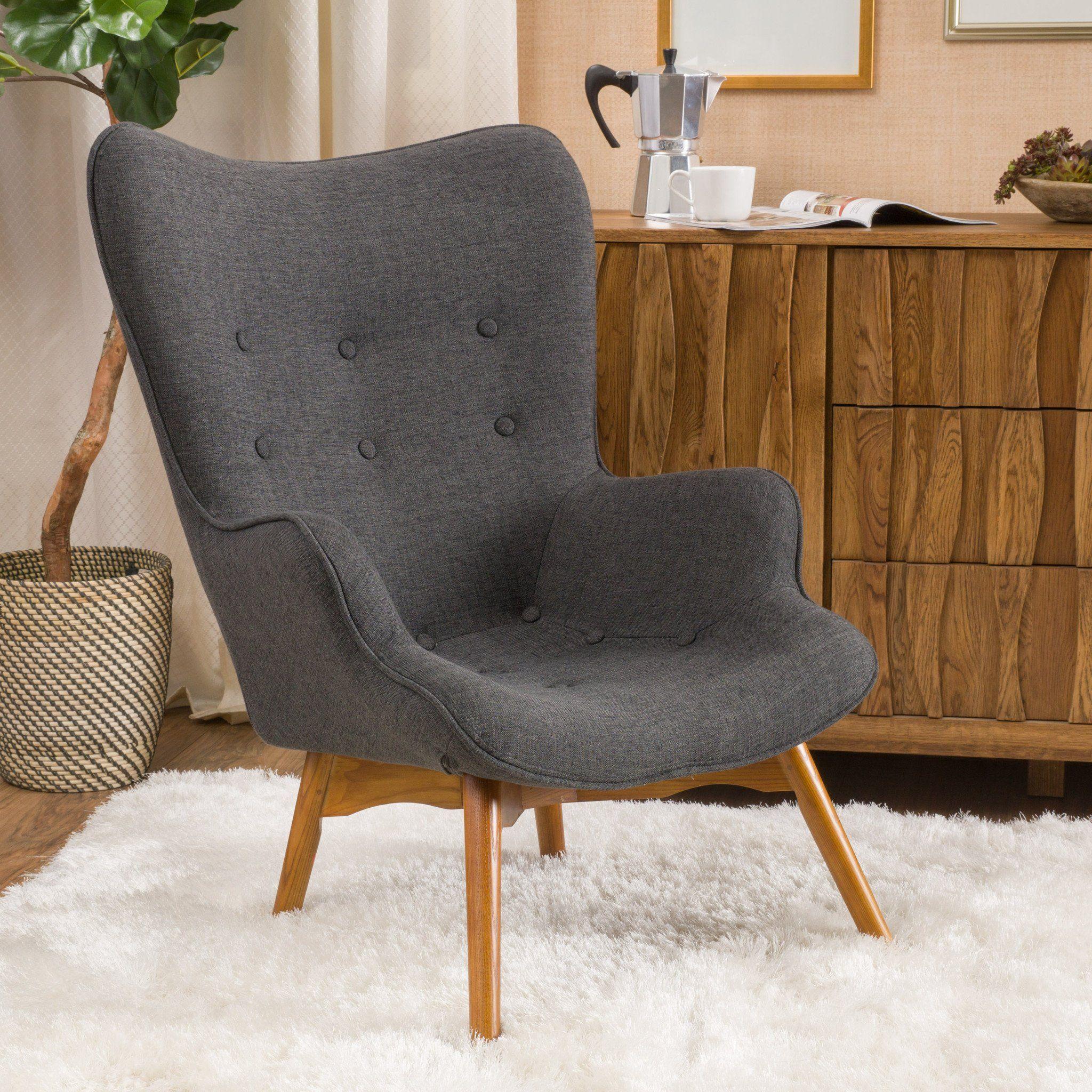 Best Acantha Mid Century Modern Contour Accent Lounge Chair 400 x 300