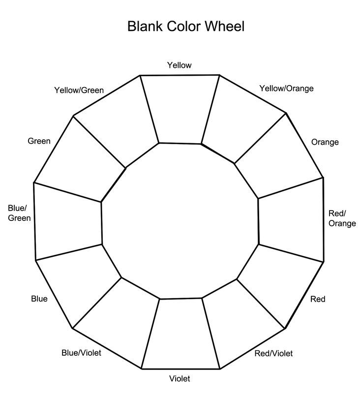 Blank Color Wheel Color Theory Pinterest Art Color Theory And