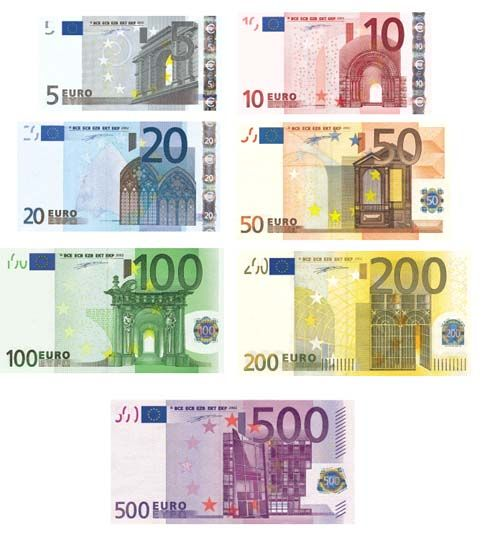 money matters  Euro France and Banknote