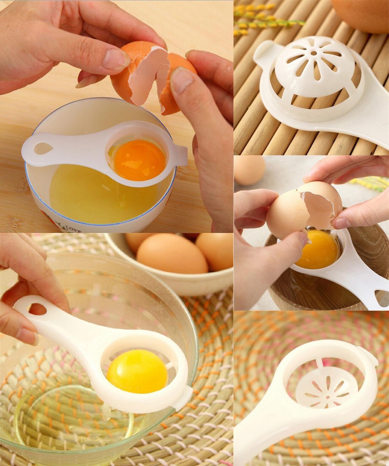 [Visit to Buy] Hot sale Eco Friendly Transparent Egg Yolk Separator Egg Divider  Hand Egg Tools pp Food Grade Material #Advertisement