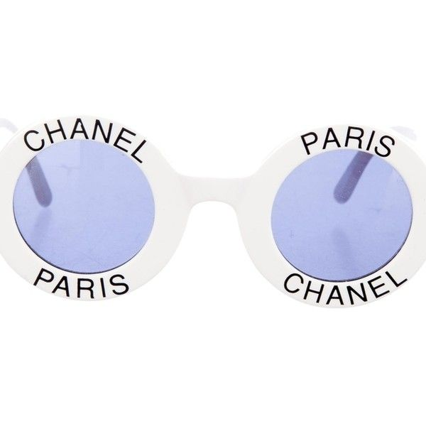 Pre-owned Chanel Most Wanted Sunglasses Round Paris Logo Vintage White... ( 5451359a58