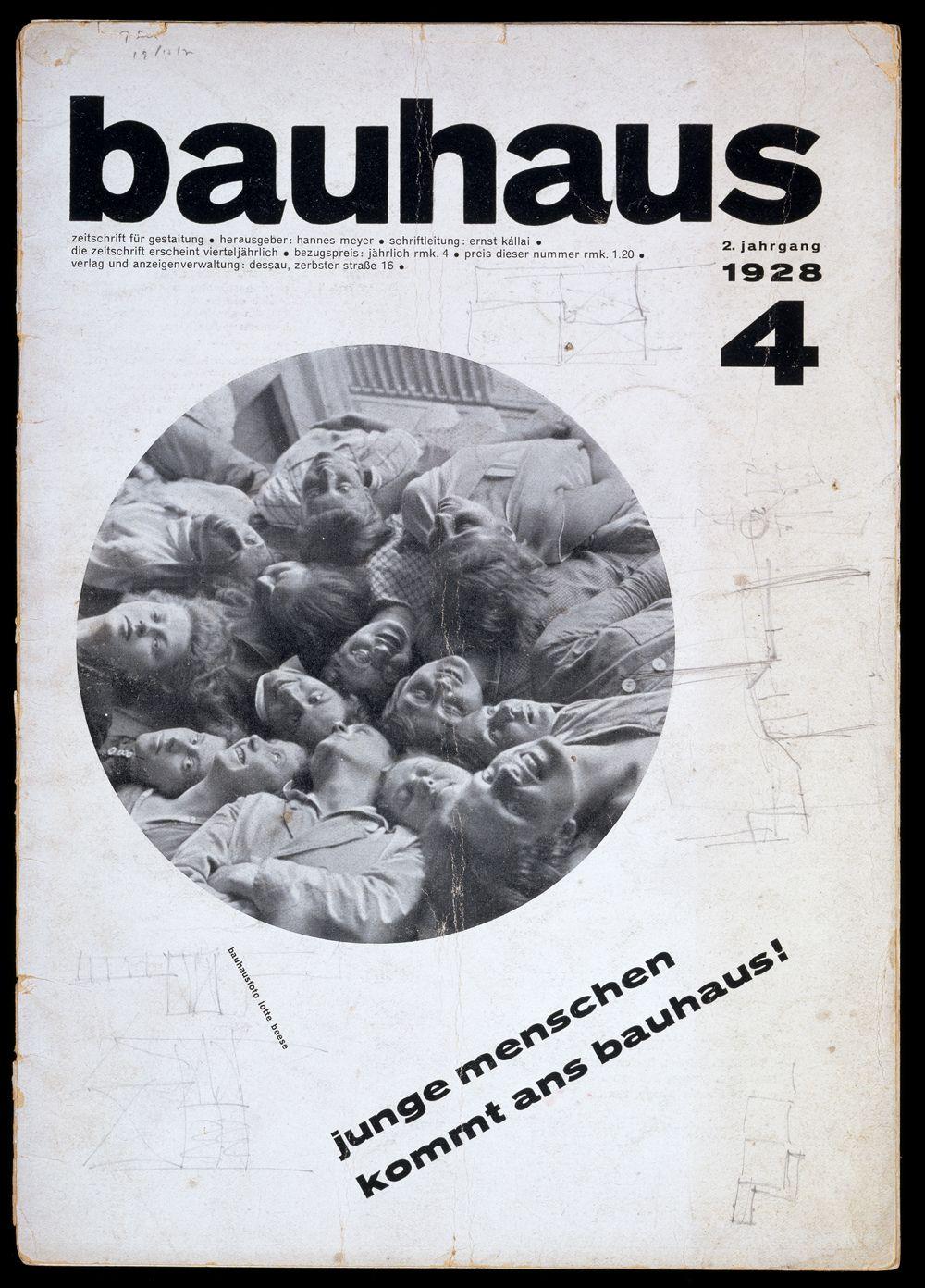 Bauhaus magazine vol 2 no 4 1928 joost schmidt 1893 for Bauhaus replica deutschland