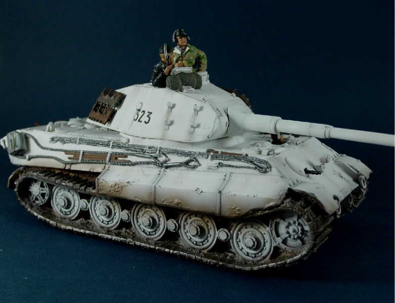 Winter Tiger II repainted tank
