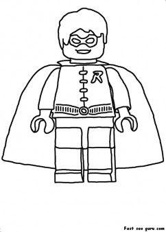 Printable Lego Batman Robin Coloring In Sheet Printable Coloring
