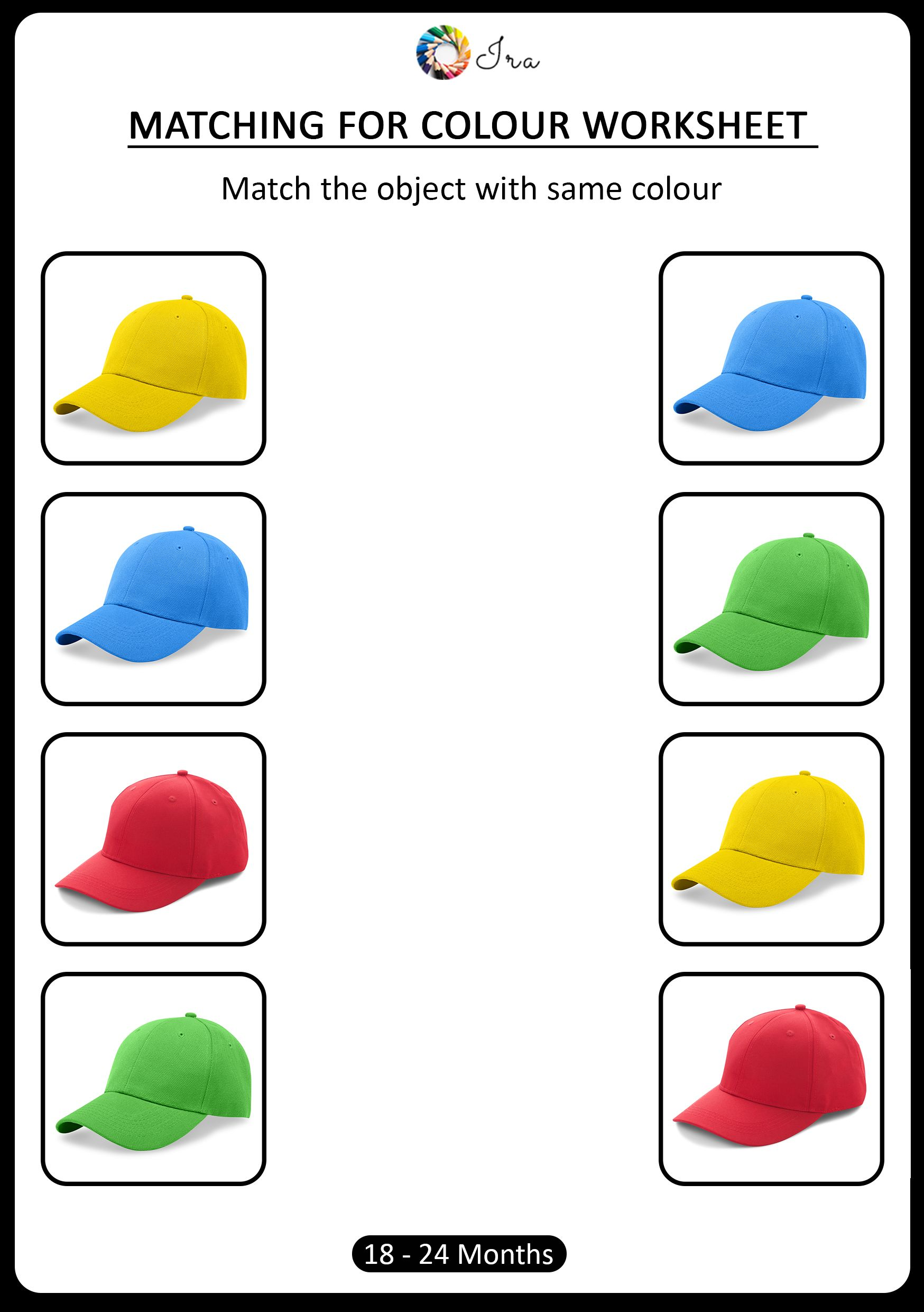 Free Downloadable Matching Colors Worksheets 18 24