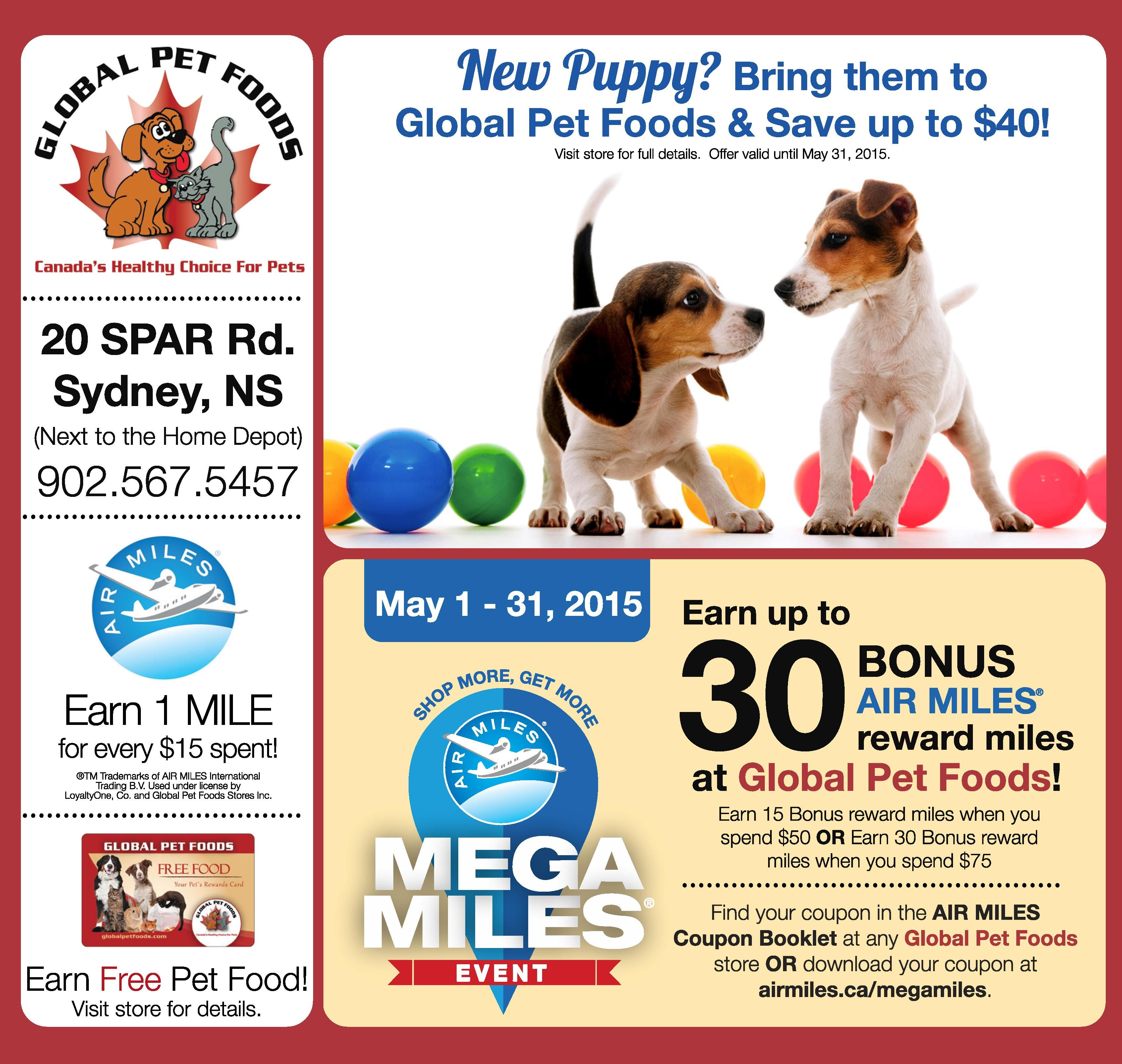 Have A New Puppy Visit The Global Pet Foods Store In Sydney Nova