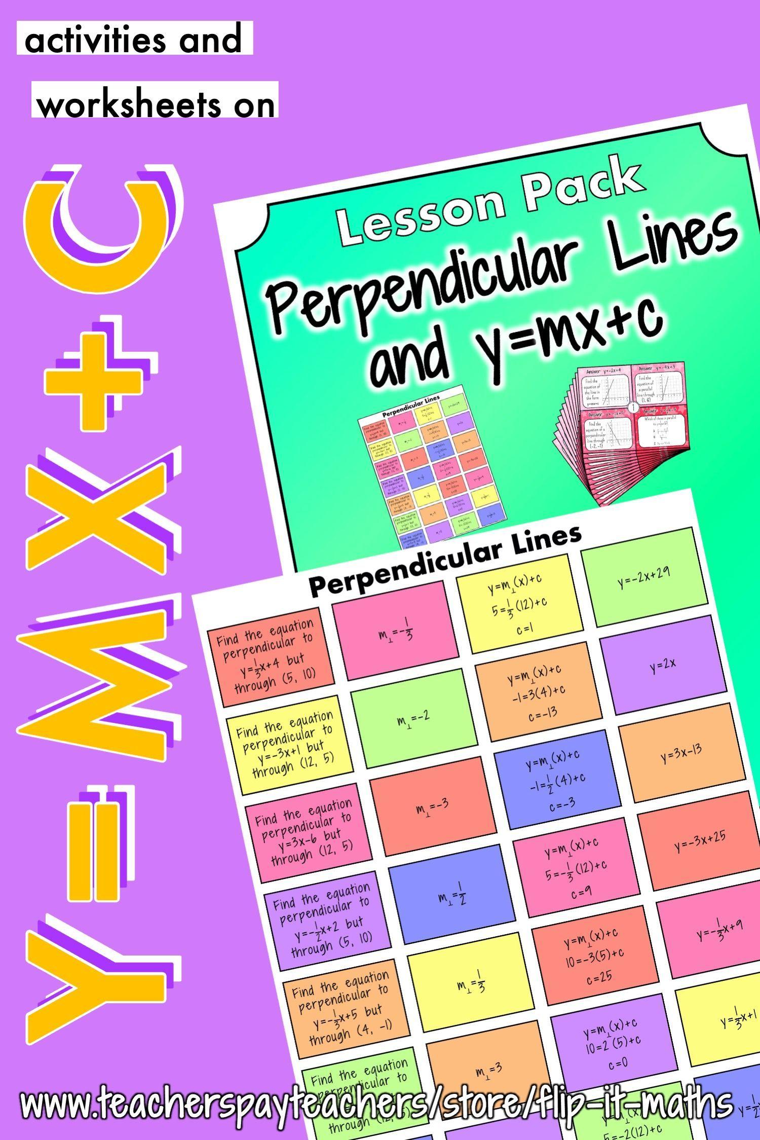 Perpendicular Lines In