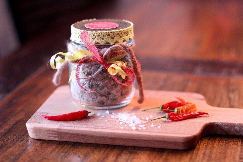 Chili Salz selber machen - Geschenk aus der Küche | Salz | Geschenke ...