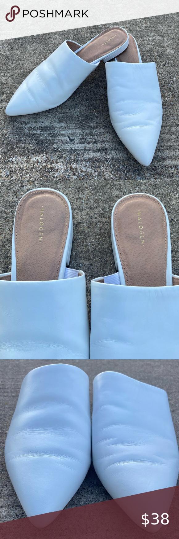 Halogen White Mule Slip-On Women's Shoe