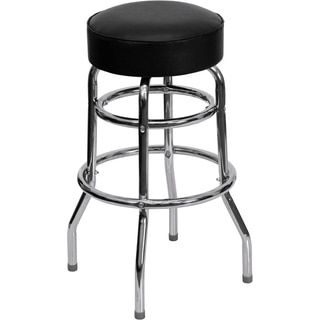 Retro Ribbed Swivel Bar Stool | Overstock.com Shopping - The Best Deals on Bar Stools