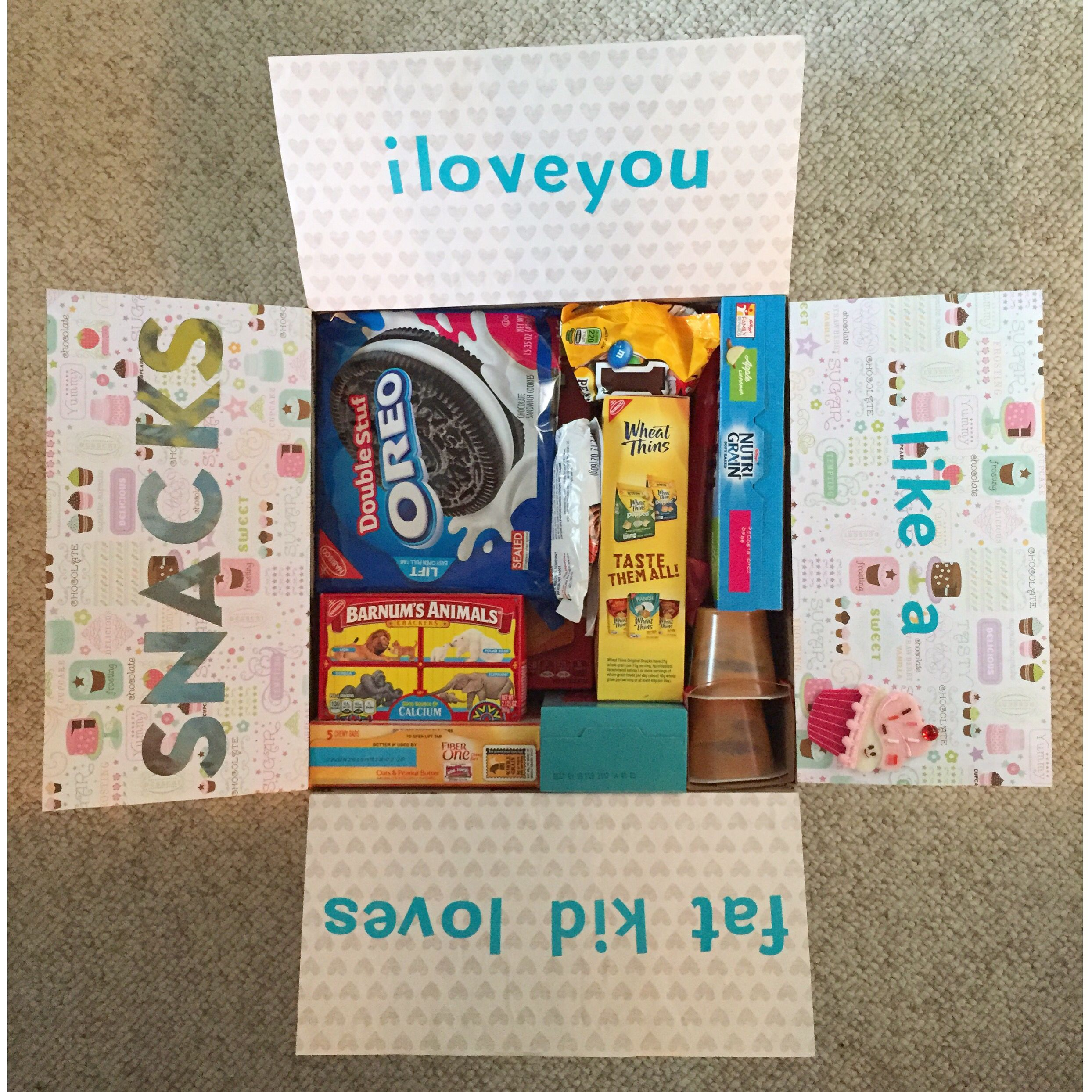 I love you military care package theme snacks! Military