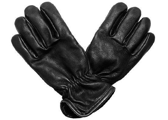 km - wool-lined deerskin work gloves