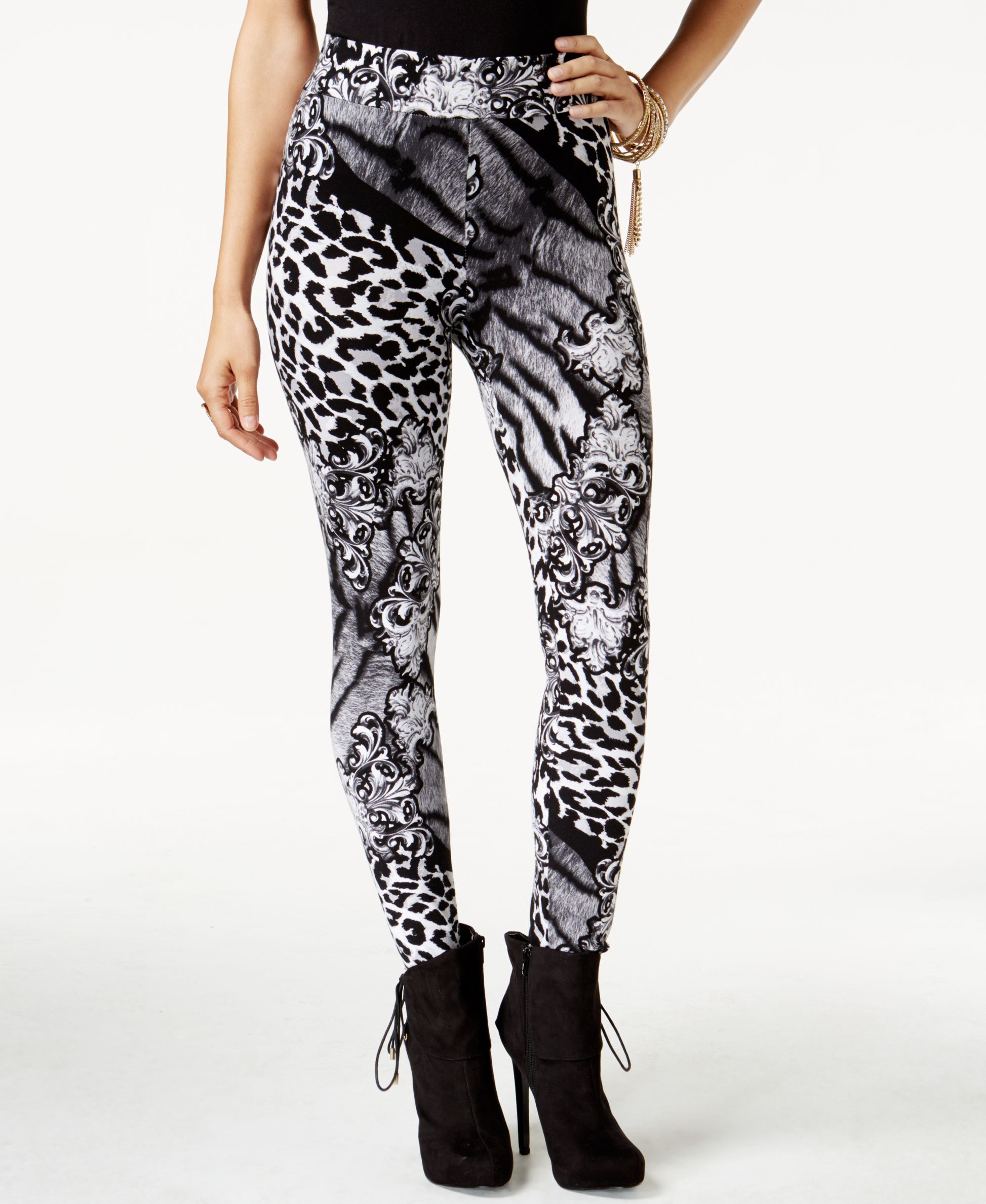 8d84a01a9df3e0 Thalia Sodi Animal-Print Skinny Leggings, Only at Macy's | Products ...