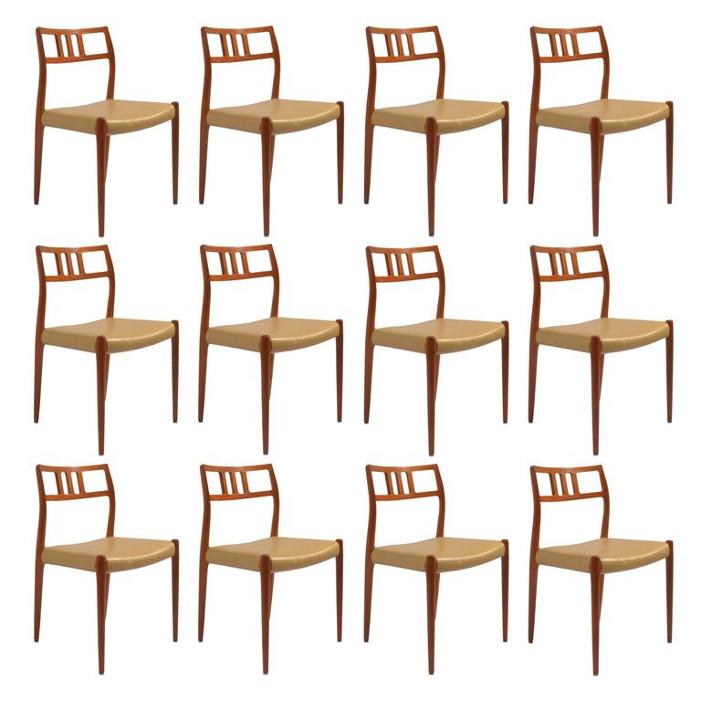 Eight J L Moller Model 79 Dining Chairs By Niels Moller In Leather Dining Chairs Dining Sets Modern Walnut Dining Chairs