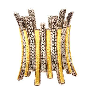 Unusual John Hardy Gold and Silver Bracelet, ht