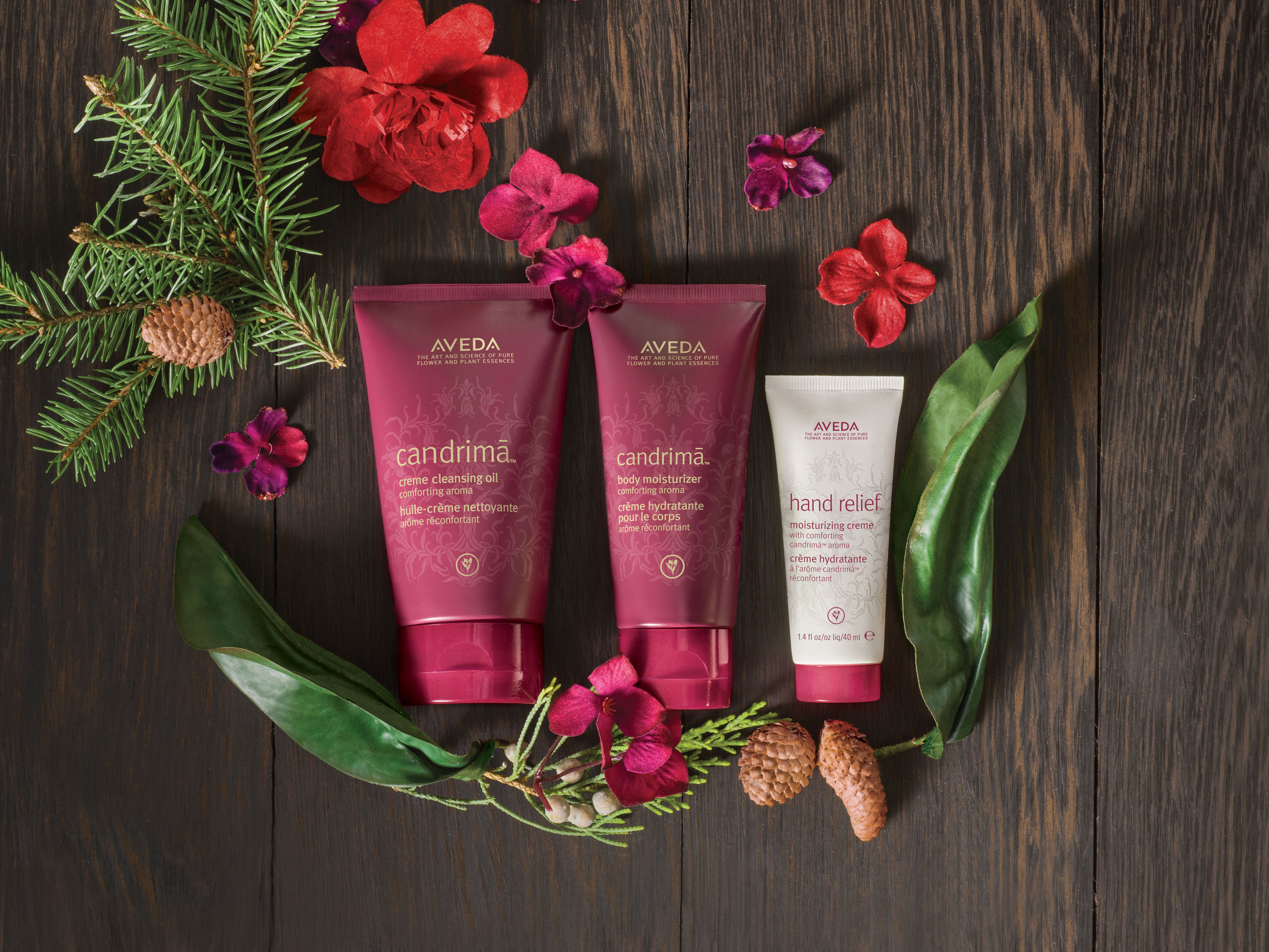 A Gift Of Pure Comfort Creme Cleansing Oil Body Moisturizer And Hand Relief Travel Size In New Candrima Aroma Holiday Aveda Gi Aveda Aveda Hair Aveda Gifts