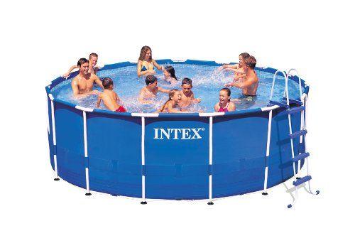 Intex Metal Frame Pool Set 15 Feet By 48 Inch Intex Http Www Dp B00aa Above Ground Swimming Pools Best Above Ground Pool Inflatable Swimming Pool