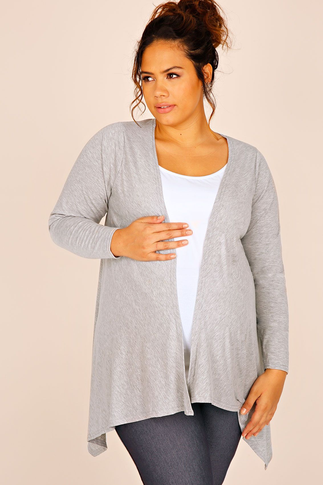 BUMP IT UP MATERNITY Grey Waterfall Cardigan ($44.00) | Ladies ...