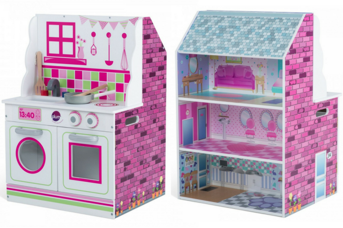 Plum 2 In 1 Dolls House And Kitchen Available At Kids Mega Mart