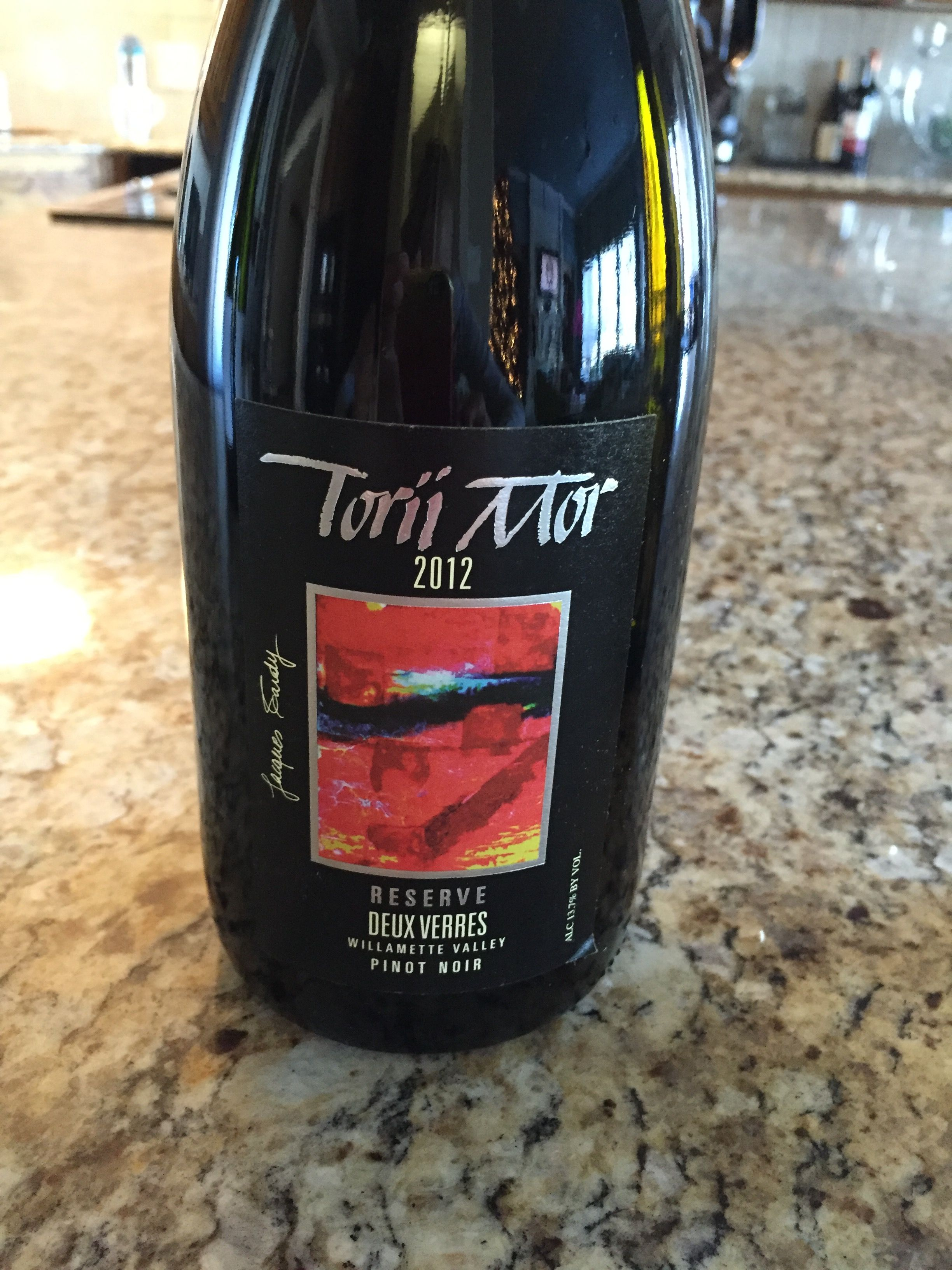 Bought At Tori Mor Winery In Oregon 55 Wine Bottle Pinot Noir Winery