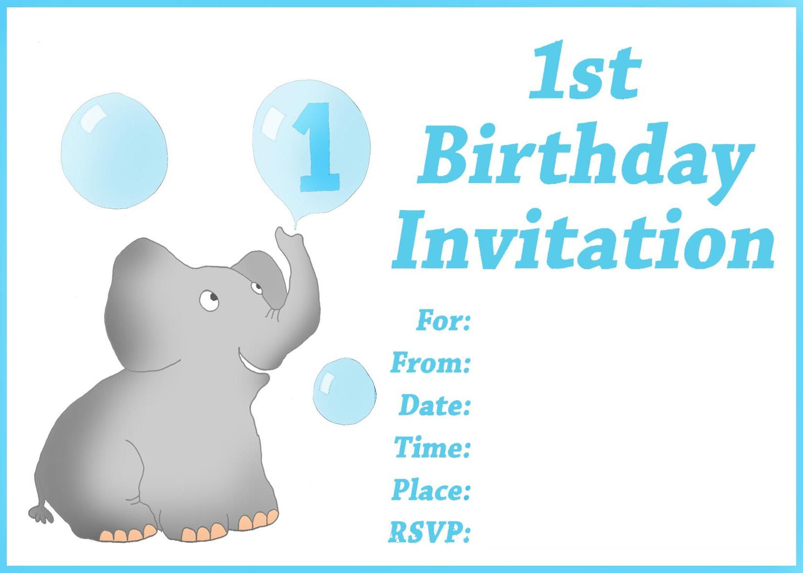 FREE Printable First Birthday Invitations For Boy Donny
