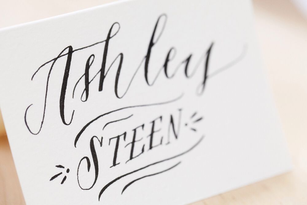 Neat and simple calligraphy cursive cursive