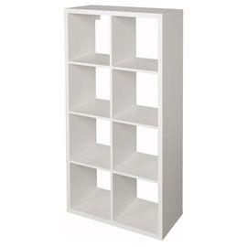 Étagère modulable 8 cubes coloris blanc Mixxit | Rangement modulable, Cube rangement et Étagères ...