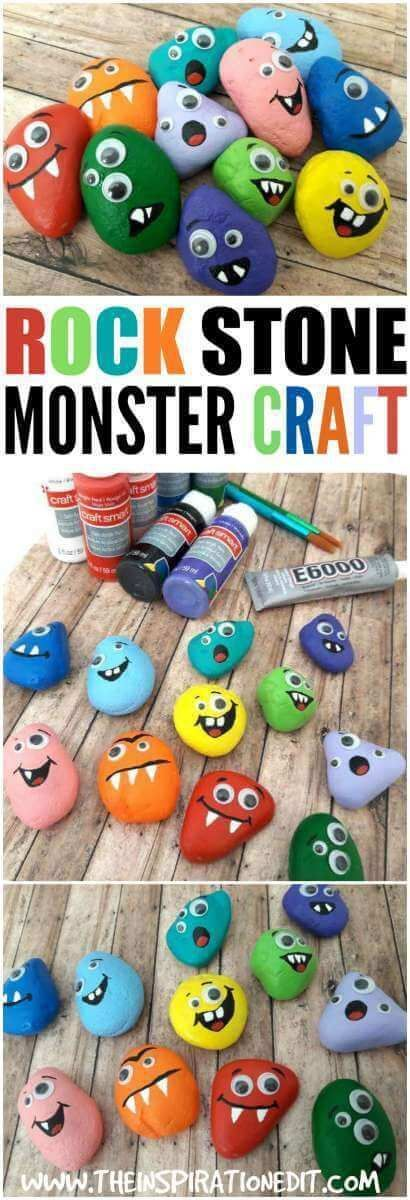 Halloween Monster Rocks A Fun Craft For Kids is part of Crafts for kids, Monster rocks, Fun crafts for kids, Fun crafts, Monster crafts, Monster craft - Check out this fantastic monster rocks  A fun halloween Craft for kids  It is fun, simple and easy to do and will give the kids