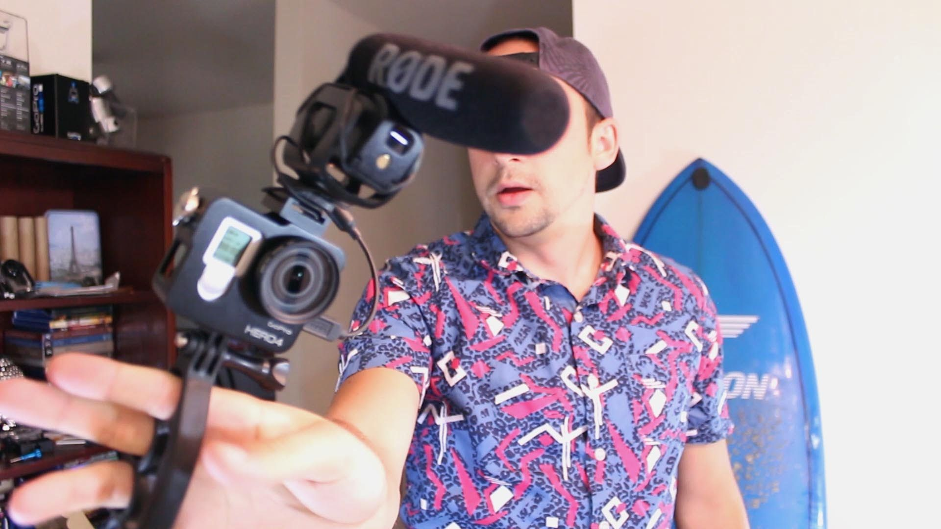 Trying out a different vlogging setup using a GoPro. What
