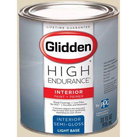 Glidden High Endurance Interior Paint And Primer Parchment 40yy 70 138 Orange Interior Paint Glidden Egg Shells