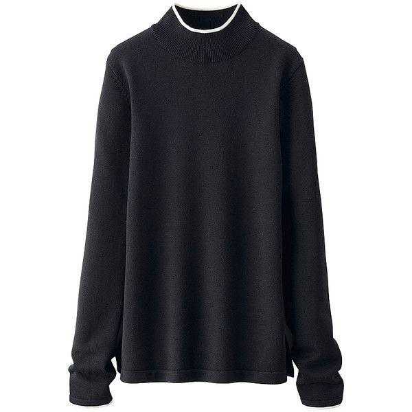 UNIQLO Women Idlf Extra Fine Merino Mock Neck Sweater (1,975 INR ...