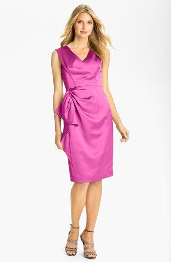 Maggy London Stretch Satin Sheath Dress (Regular & Petite) available ...