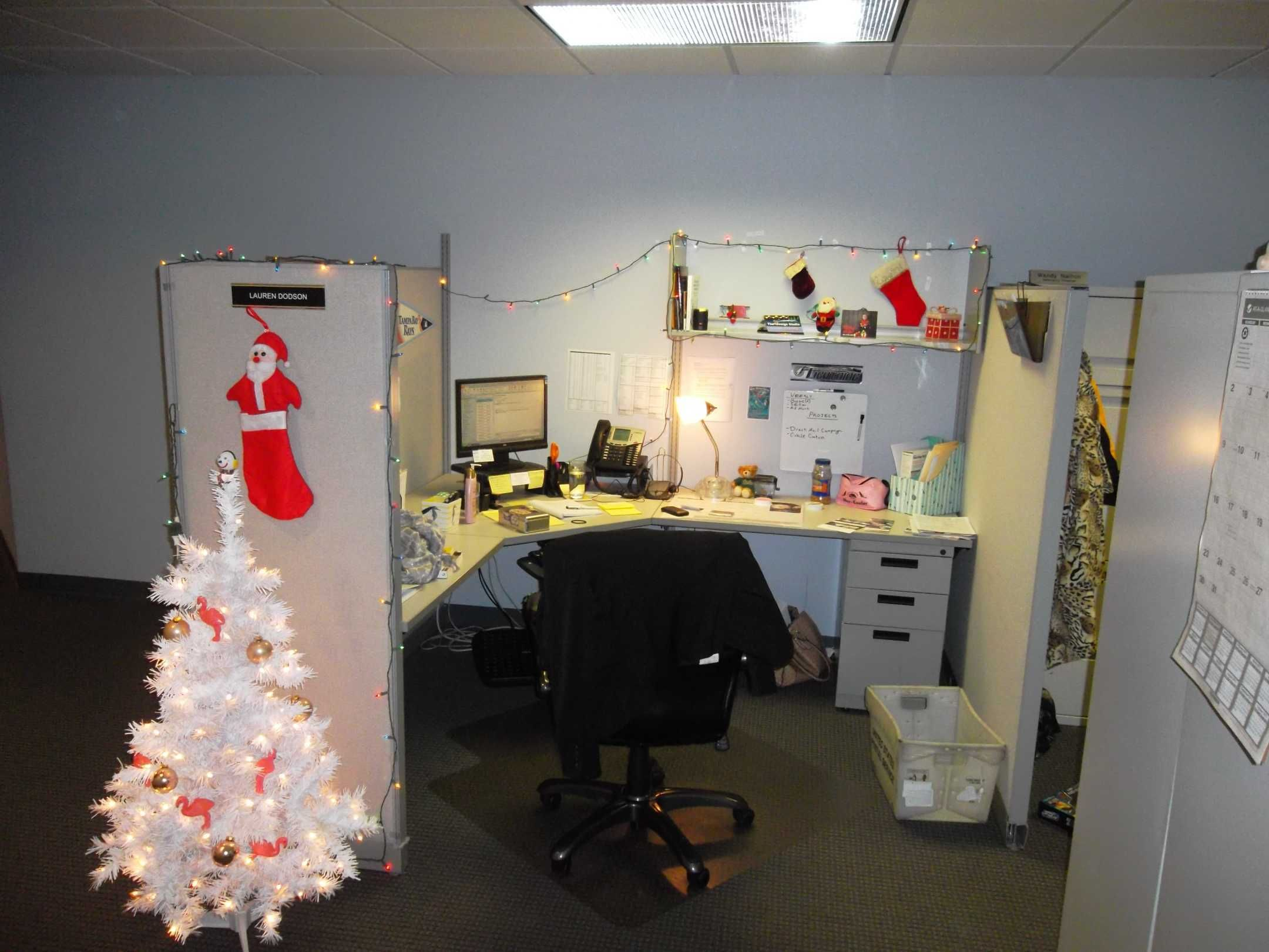 Office Cubicle Christmas Decoration Simple Office Cubicle
